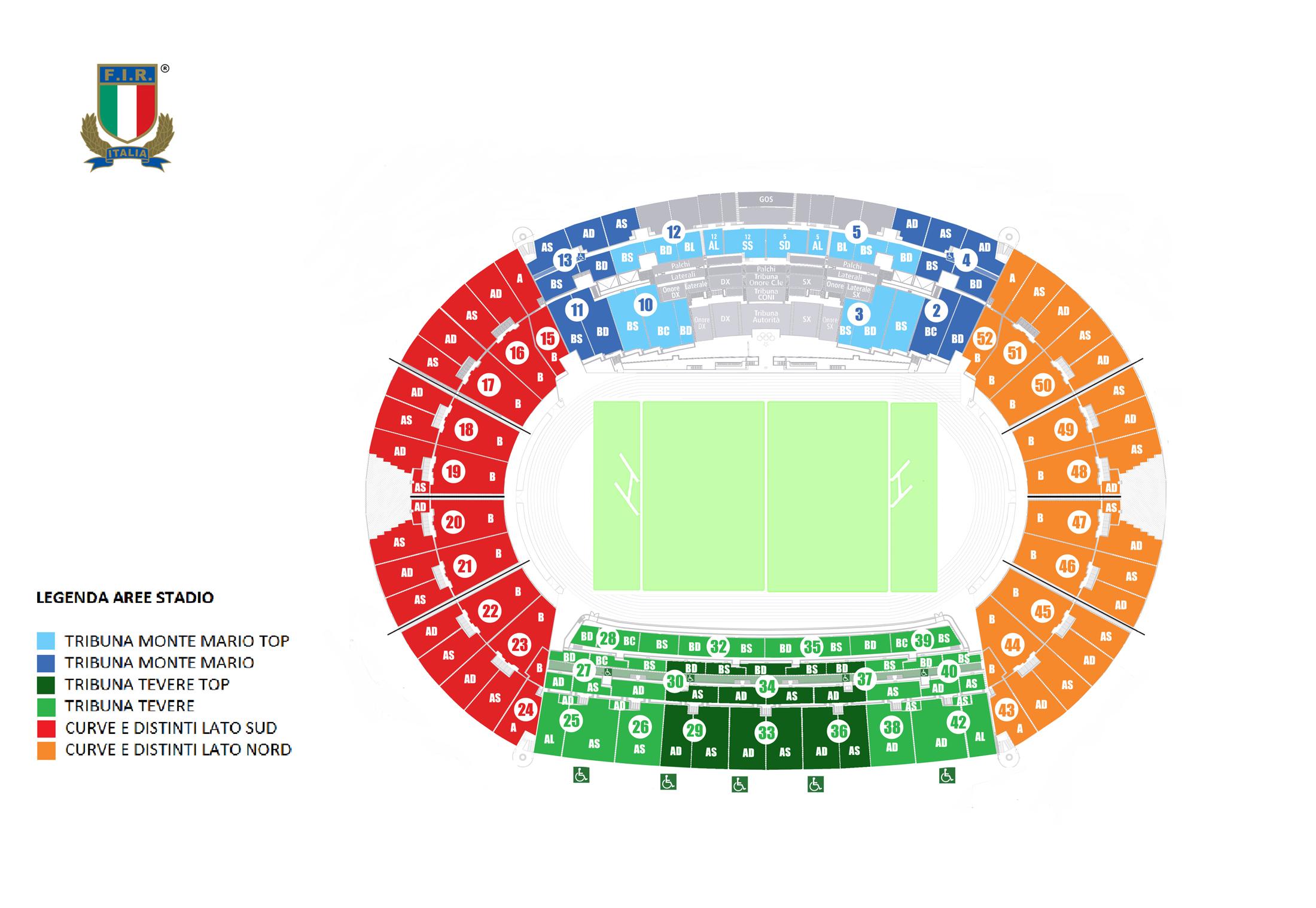 Cartina Stadio Olimpico Roma.Mappa